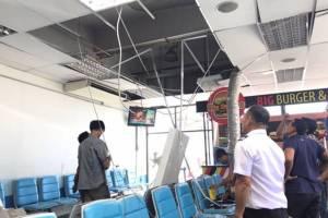 ฝ้าเพดานสนามบินภูเก็ตเสื่อมสภาพ ตกใส่หัวผู้โดยสารเลือดอาบ 1 ราย