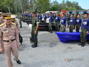 เสนาธิการทหารเรือตรวจความพร้อมทหารเรือที่นราฯ ซ้อมแผนช่วยผู้ประสบอุทกภัยใต้