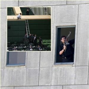 "InPIcs: อุกอาจ!! IS ก่อการร้ายต่อเนื่องพร้อมกัน ""รัฐสภาอิหร่าน-สุสานโคไมนี""  ดับไม่ต่ำกว่า 12 เจ็บ 42 หลังยึดนาน 4 ช.ม สื่อเตหะรานอ้าง 4 มือโจมตีเสียชีวิตทั้งหมด – ปูตินแสดงความเสียใจ"