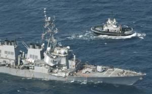 "In Pics & Clips : เรือพิฆาต ""ยูเอสเอส ฟิตซ์เจอรัลด์"" ชนกับเรือสินค้านอกชายฝั่งญี่ปุ่น-ลูกเรือมะกันสูญหาย 7 นาย"