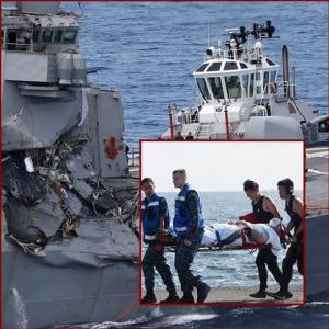 "InPics&Clip:พบแล้ว!! ""ศพลูกเรือยูเอสเอส ฟิตซ์เจอรัลด์"" ติดอยู่ด้านใน สื่ออังกฤษแฉ 116 กลาสีหลับตอนน้ำกำลังทะลัก – อดีตรองเสนาฯกองทัพสหรัฐฯฟันธง ""ผิดพลาดจากน้ำมือมนุษย์"""