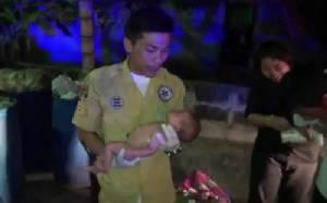 เจออีกทารกน้อยแรกเกิดถูกทิ้งข้างถังขยะใน ต.บ้านสวน อ.เมืองชลบุรี