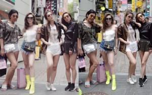 """สาวเกาหลีหลบไป! เมื่อเจอ""""ดิว - เอมมี่ -วุ้นเส้น - คริส"""" อวดเรียวขาซะขนาดนี้"""
