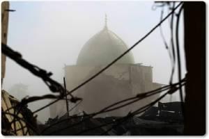 ชมภาพซากวิหารเก่าโมซุล:อิรักประกาศ ระบบคอลิฟะห์กลุ่ม IS ล่มสลาย!! หลังยึดมัสยิดบักห์ดาดีใช้เปิดตัว 3  ปีก่อนหน้า