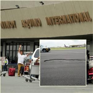 InClip:สนามบินมะนิลาเกิดหลุมกลางลานบิน!! เครื่องบินต้องอ้อมไปลงสนามบินอื่นแทน