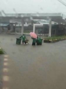 น้ำท่วมเมืองจันท์  หลังฝนตกหนัก แต่ไม่ถึงขั้นวิกฤต