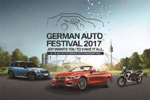 เยอรมัน ออโต้ จัดงาน German Auto Festival 2017 เข้าถึงไลฟ์สไตล์ชาว BMW-MINI-BMW Motorrad รวมความสนุก ความอร่อย และความคุ้มค่า ในงานเดียว เร่งเครื่องอัพเลเวลบริการหลังการขายให้เร็ว และถูกใจลูกค้า