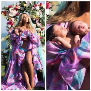 """""""บียอนเซ"""" เผยภาพอุ้มลูกแฝดอวดชาวโลกเป็นครั้งแรก"""