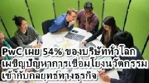 PwC เผย 54% ของบริษัททั่วโลกเผชิญปัญหาการเชื่อมโยงนวัตกรรมเข้ากับกลยุทธ์ทางธุรกิจ