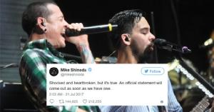 """ใจสลาย! """"ไมค์ ชิโนดะ"""" ช็อก """"เชสเตอร์ เบนนิงตัน"""" นักร้องนำ Linkin Park ฆ่าตัวตาย"""