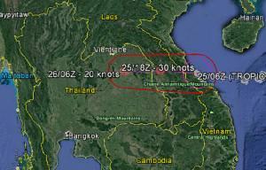 """""""เซินกา"""" กลับถิ่นเวียดนาม นครพนม-อุบลฯ ฉ่ำฝนเช้าวันพุธ เวียดสั่งตังเกกว่าหมื่นเข้าฝั่ง สั่งงดกว่า 40 เที่ยวบิน"""