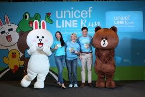 ยูนิเซฟผนึกกำลัง LINE จัดงานวิ่งการกุศล ให้เด็กรับโอกาสที่เท่าเทียม