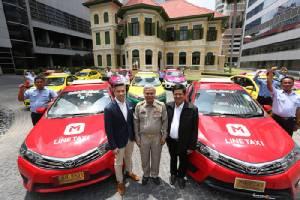 """LINE เซ็นเอ็มโอยูสหกรณ์แท็กซี่ฯ พัฒนา """"LINE Taxi"""" ให้บริการภายในสิ้นปี"""