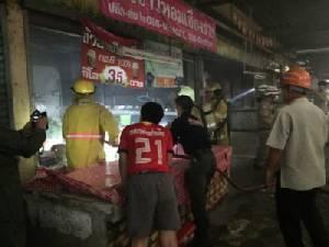 ระทึกหลังลุ้นหวย! ไฟไหม้ร้านค้าตลาดกลางเมืองเชียงใหม่หวิดวอด