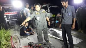 หนุ่มใหญ่ปั่นจักรยานตกบ่อน้ำริมถนนปทุม-สามโคก เสียชีวิต