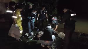 ผงะศพชายนิรนาม ลอยน้ำคลองอ้อม เมืองนนทบุรี