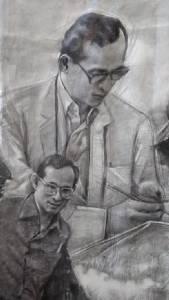 ทึ่ง....จิตรกรชาวเชียงรายแสดงอาลัยถวายในหลวง ร.๙ ใช้ถ่านวาดพระบรมสาทิสลักษณ์ลงผืนผ้าใบขนาดใหญ่(ชมคลิป)