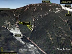 """InPics:สุดอึ้ง!!ภาพดาวเทียมพิสูจน์ชัด """"แผ่นดินไหว 6.3 เกาหลีเหนือ"""" ทำดินถล่มมากกว่า 5 ครั้งก่อนหน้า """"นักธรณีฟิสิกส์จีน""""ยัน  เปียงยางเสี่ยงทำภูเขาทั้งลูกถล่ม - กัมมันตภาพรังสีฟุ้งทั่วภูมิภาค"""