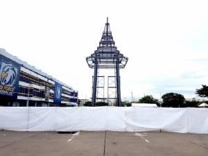 บวงสรวงการสร้างพระเมรุมาศจำลอง ณ สนามกีฬากองทัพอากาศ (ธูปะเตมีย์)