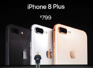 กล้องคู่จอใหญ่ iPhone 8 Plus ราคาเริ่ม 799 เหรียญหรือประมาณ 26,500 บาท