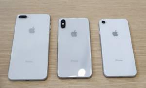 ด้านหลังของ iPhone 8 Plus, iPhone X และ iPhone 8