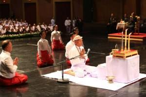 สมเด็จพระเทพฯ ทรงเป็นประธานพิธีไหว้ครูการแสดงมหรสพ พระราชพิธีถวายพระเพลิงพระบรมศพ