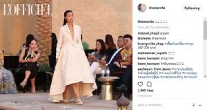 """สง่างาม """"แพนเค้ก"""" กับรันเวย์โกอินเตอร์งานแฟชั่น  Fashion Destination ที่อาบูดาบี"""