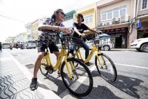 """""""โอโฟ่"""" ให้บริการจักรยานสาธารณะแบบไร้สถานี ที่ภูเก็ตเป็นแห่งแรก ใช้ฟรีตลอดเดือนตุลาคมนี้"""