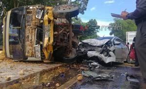 รถชนกัน 4 คันรวด บนถนนเอเชียขาเข้าหาดใหญ่ ทำรถติดยาวเหยียดเกือบ 10 กม.