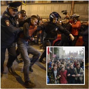 ชมภาพสุดโหดประท้วงรับวันเกิดปูติน : สุดสะพรึง สาวกแกนนำฝ่ายค้านนาวาลนีร่วมหลายร้อยถูกลากตัว!! หลังก่อหวอดประท้วง 26 เมืองทั่วรัสเซีย – เครมลินขู่บล็อกความเคลื่อนไหว CNN