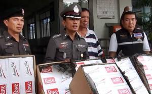 ตำรวจหาดใหญ่จับบุหรี่เถื่อนร้านดังกลางเมือง ยึดของกลางมูลค่ากว่า 2 ล้าน