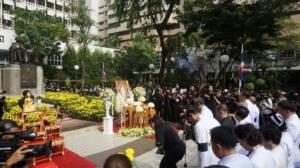 ศิริราชชวนคนไทยเจริญจิตภาวนารำลึกถึงในหลวง ร.๙ เวลา 15.52 น.