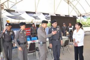 รอง ผบ.ตร.พอใจการป้องกันความปลอดภัยพระราชพิธีถวายพระเพลิงพระบรมศพ จ.กาญจนบุรี