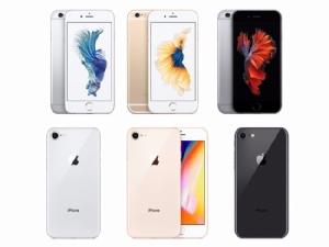 มองเผิน ๆ iPhone 6s (แถวบน) เกือบจะเหมือนกับ iPhone 8 รุ่นใหม่ (แถวล่าง)