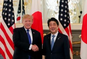 """""""ทรัมป์"""" ประกาศผลักดันการค้าที่ """"เสรีและเท่าเทียม"""" กับญี่ปุ่น-โอดอเมริกาเป็นฝ่าย """"ขาดดุล"""" มาหลายสิบปี"""