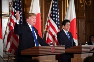 """""""ทรัมป์"""" ประกาศกร้าวหมดเวลา """"อดทน"""" กับเกาหลีเหนือ-ญี่ปุ่นหนุนใช้ทุกมาตรการกำราบโสมแดง"""