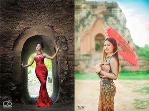 """ชายแดนไทย-พม่าเป็นสีชมพู! """"นางแก้วคำ"""" สาวไทใหญ่ ผู้กำหัวใจหนุ่มสยาม(มีคลิป)"""