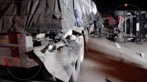 ตูมสนั่น..กระบะทหารกลับจากงานแต่ง ชนท้ายรถพ่วงกลางดอยขุนตาน เจ็บ 7