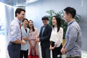 จัสติน ทรูโด ผู้นำแคนาดาเยือนจีน ร่วมประชุมฟอร์จูน โกลบอล