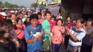 """""""เชษฐ์ สไมล์บัฟฟาโล่"""" ร่วม นอภ.ชลบุรี หน่วยงานราชการวิ่งในเขตตัวเมืองชลบุรี"""
