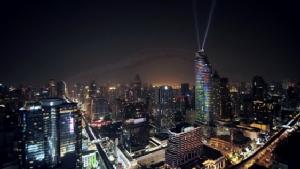 เริ่มแล้ว...โชว์สุดตระการตา 3D projection mapping  ครั้งแรกของเมืองไทย!! บนตึกสูง 60 ชั้น