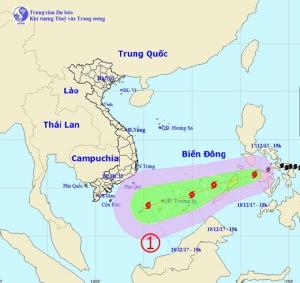 """เวียดนามจับตาดีเปรสชั่นลูกใหญ่ """"ไคตั๊ก"""" ทำฝนตกซ้ำเติมอากาศหนาวขณะพัดเข้าอ่าวไทย"""