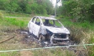 พบรถเก๋งถูกเผาวอดริมถนนสายโป่ง-เขาไม้แก้ว ไม่พบหลักฐานหรือผู้เสียชีวิต