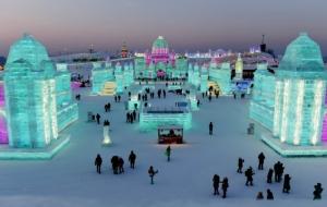 อลังการสมการรอคอย! ชมภาพเทศกาลนครวิมานน้ำแข็ง ตั้งตระหง่านกลางดินแดนหิมะฮาร์บิน