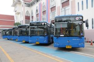 ขบ.เปิดตัวรถเมล์มาตรฐานใหม่ ขึ้นฟรี 5 วัน เริ่ม 16 ม.ค. สถาบันการแพทย์จักรีนฤบดินทร์-รามาธิบดี
