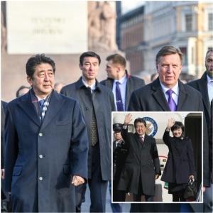 """In Pics :""""นายกฯญี่ปุ่น ชินโซ อาเบะ"""" เดินสายทัวร์ 6 ชาติยุโรปตะวันออก-บอลติก หาเพื่อนร่วมกดดันเกาหลีเหนือ"""