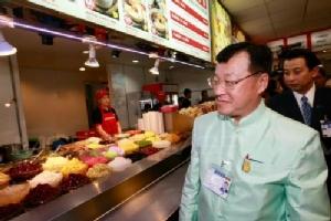 รัฐมนตรีช่วยคมนาคม ลงพื้นที่ตรวจร้านอาหารสุวรรณภูมิ ยืนยันราคาอาหารมีทั้งถูก-แพง