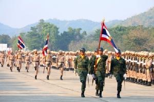 กองทัพเรือ จัดพิธีปฏิญาณตนต่อหน้าธงชัยเฉลิมพลและสวนสนาม เนื่องในวันกองทัพไทย