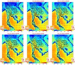สจล.ชี้ 19-24 ม.ค.นี้ อากาศประเทศไทยอุณหภูมิสูงขึ้นแน่