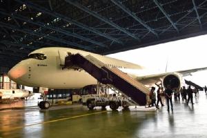 ครั้งแรกในไทย! A350-1000 เครื่องบินแอร์บัสรุ่นใหม่ อวดโฉมในไทย ที่สุวรรณภูมิ